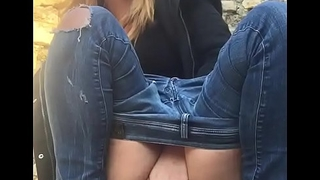 Foreigner Sexy Teen Girl Masturbating On Picnic Spot Outdoor