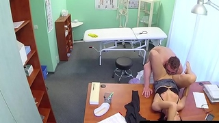 European babe fucked hard by horny doctor