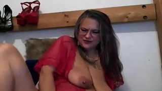 Old goddess mom with meaty pussy lips masturbates &amp_ dirty talking