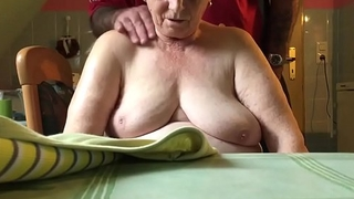 76 year old mama in law,nice tits