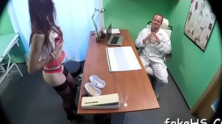 Delightful doctor gets fucked hard