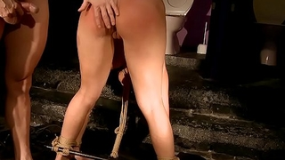My comely private sex slave.Teaching obedience.BDSM movie.