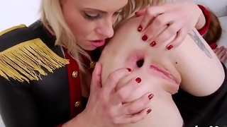 Lesbo centerfolds latitude their deep anal holes and poke huge magic wands