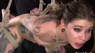 Alt slave spanked together with abused in bondage