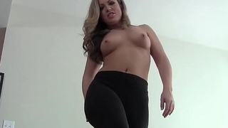 Let me finish my yoga and then I will condone you cum JOI