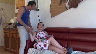 LA NOVICE &ndash_ French BBW juicy blowjob and cock riding