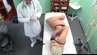 Shove around babe creampied at doctors examination
